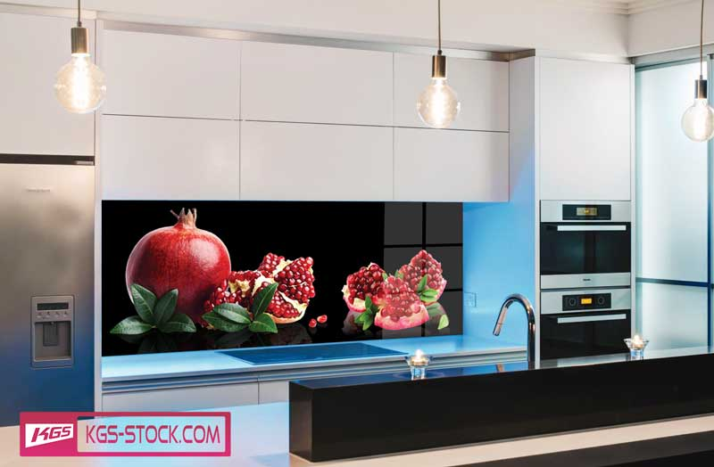 Splashbacks Glass design - Juicy pomegranate photos  - 100271