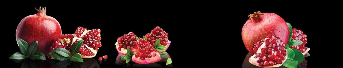 Splashbacks Glass design - Juicy pomegranate photos  - 100271 Image