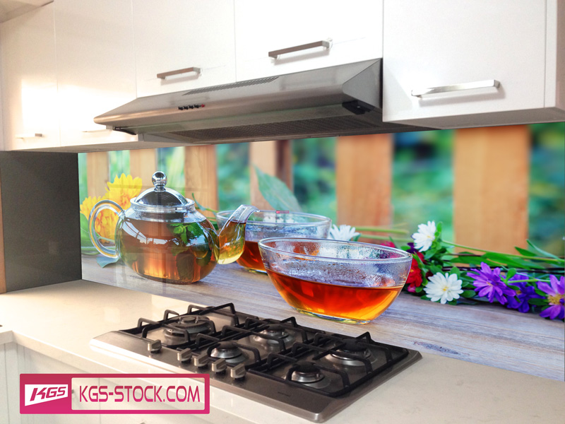 Splashbacks Glass design - Tea Time - 100203