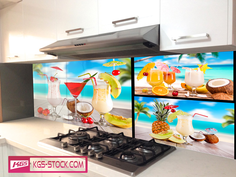 Splashbacks Glass design - Cocktail collage - 100205