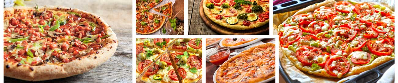 Splashbacks Glass design - Tasty mixed pizza - 100214