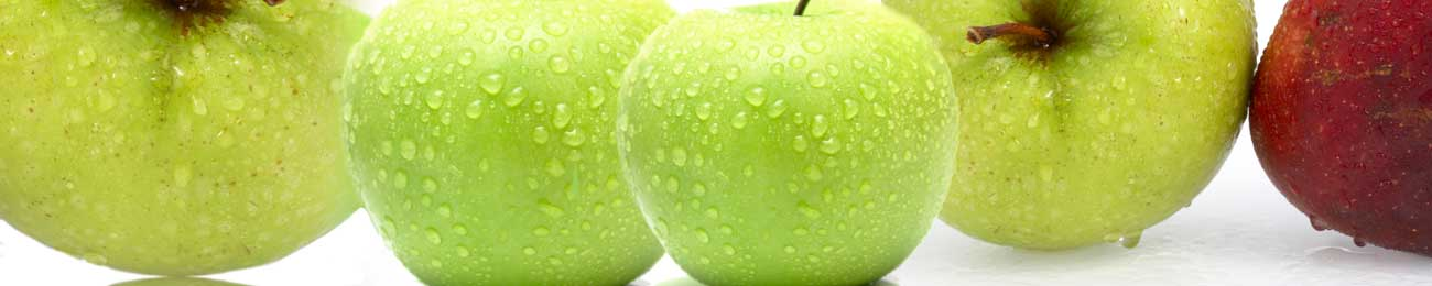 Splashbacks Glass design - Fresh green apples - 100221 Image