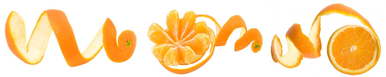 Splashbacks Glass design - Fresh orange and peels - 100223 Image