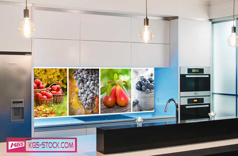 Splashbacks Glass design - Fresh fruits photos - 100228