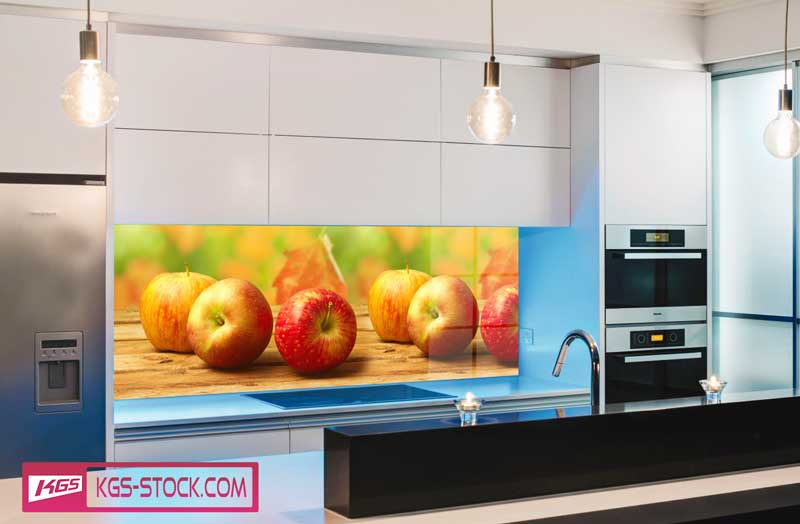 Splashbacks Glass design - Autumn apples - 100230