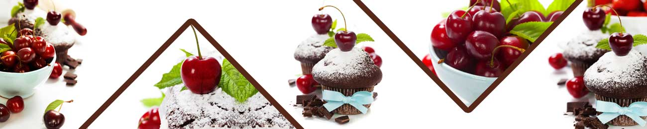 Splashbacks Glass design - Cup cakes with cherry - 100234 Image