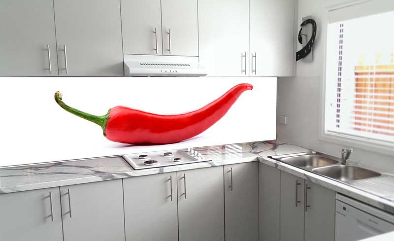 Splashbacks Glass design - Big red hot pepper - 100240