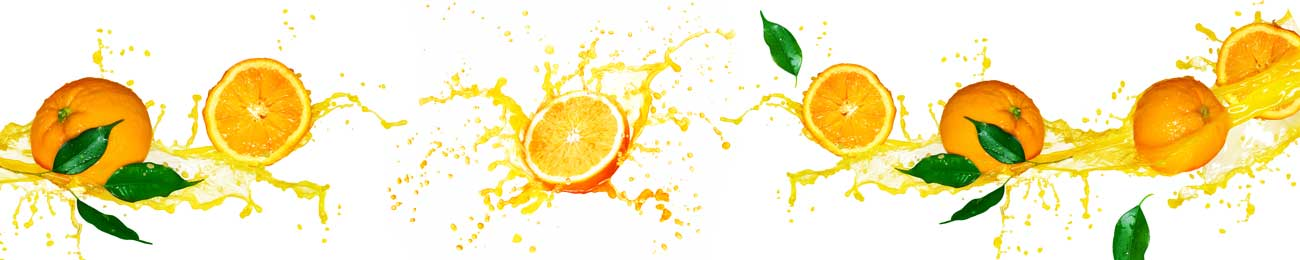 Splashbacks Glass design - Juicy orange splash - 100249