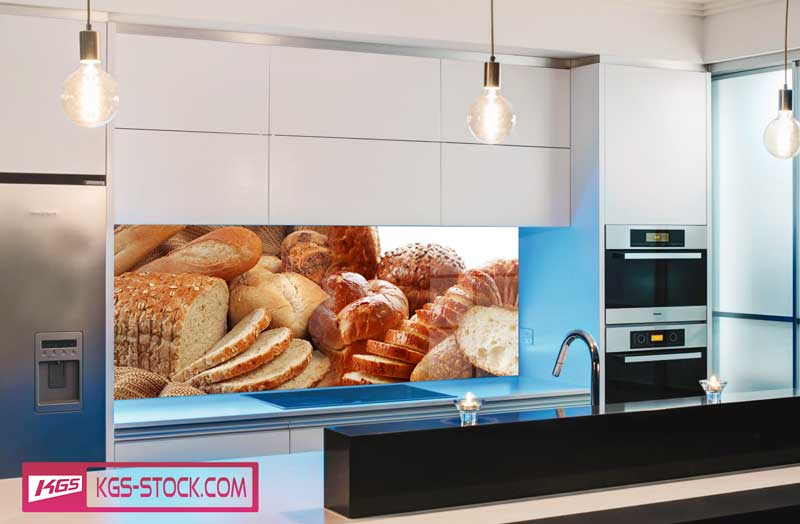 Splashbacks Glass design - Fresh bread - 100264