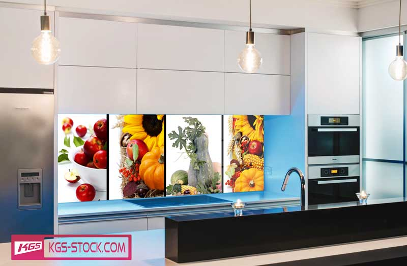 Splashbacks Glass design - Autumn fruits and vegetables - 100265