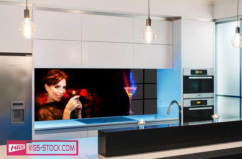 Splashbacks Glass design - Cocktail night with girls - 100266