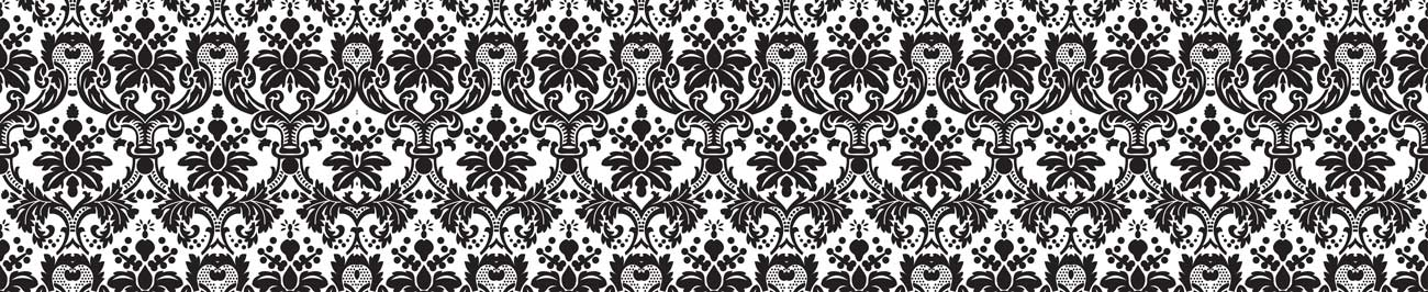 Splashbacks Glass design - Black and white ornaments - 100858 Image