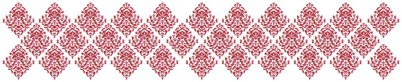 Splashbacks Glass design - Red ornaments - 100861 Image
