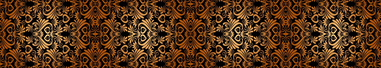 Splashbacks Glass design - Golden Ornaments and black background - 100866 Image