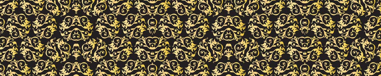 Splashbacks Glass design - Golden Ornaments and black background - 100867