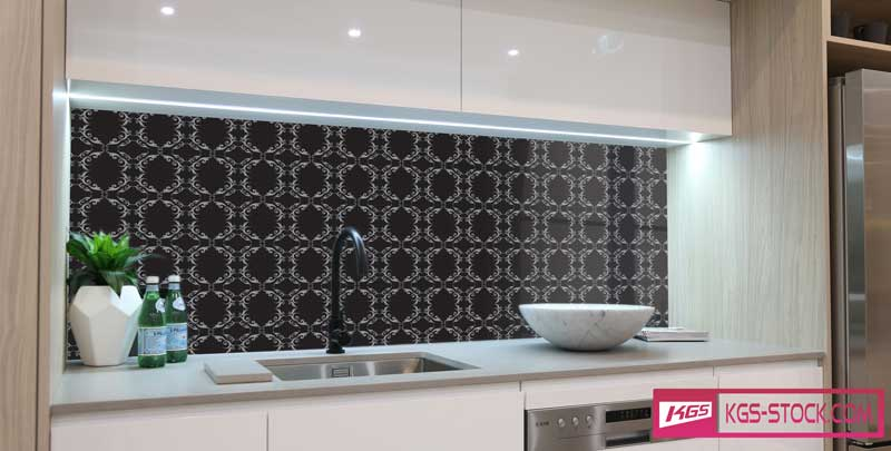 Splashbacks Glass design - Dark Ornaments - 100868