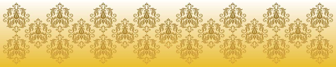 Splashbacks Glass design - Golden ornaments - 100871