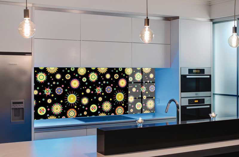 Splashbacks Glass design - Colorful circles - 100801
