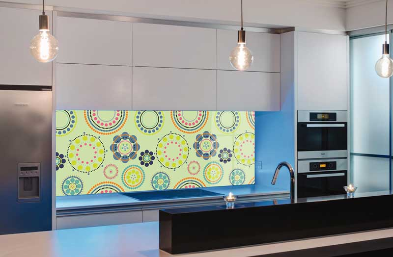 Splashbacks Glass design - Colorful Pattern - 100804