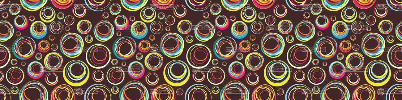 Splashbacks Glass design - Colorful mixed circles - 100808