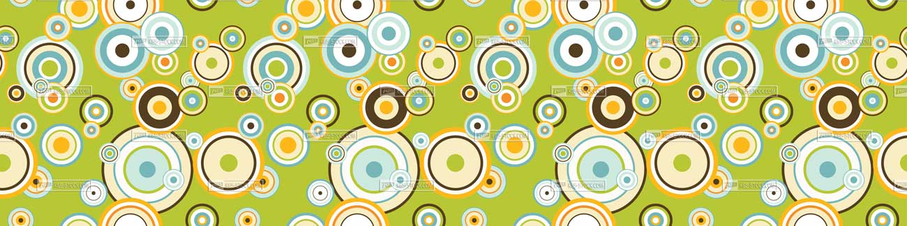 Splashbacks Glass design - Colorful circle pattern - 100810