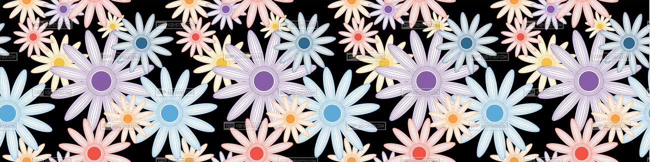 Splashbacks Glass design - Chamomile flowers pattern - 100816