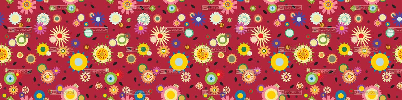 Splashbacks Glass design - Colorful flowers explosion pattern - 100819