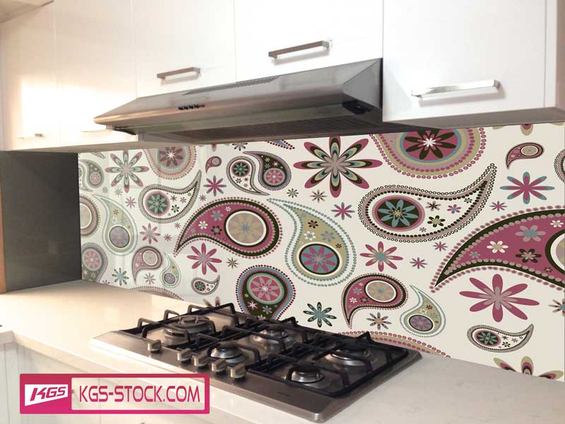 Splashbacks Glass design - Beautiful almond-shaped pattern - 100825