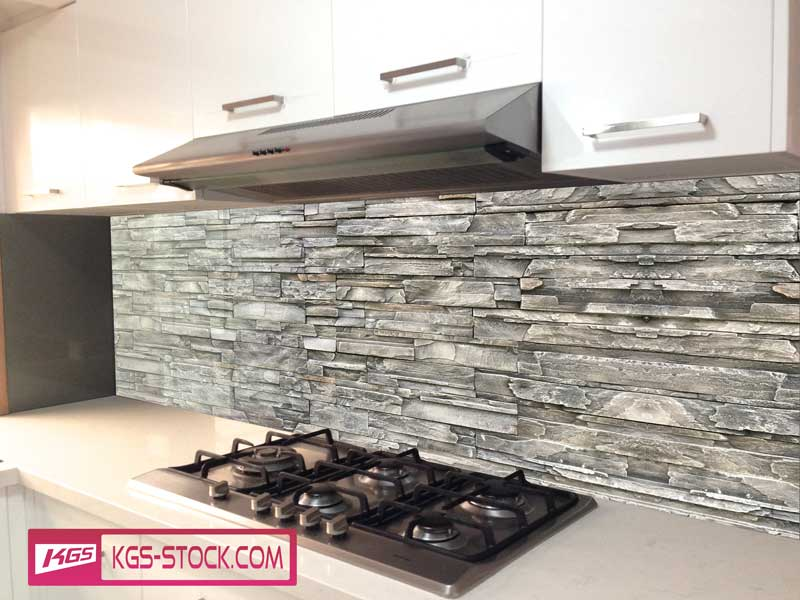 Splashbacks Glass design - Stone Wall - 100830