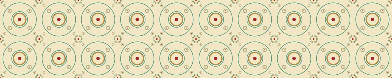 Splashbacks Glass design - Circles pattern - 100850