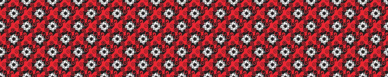 Splashbacks Glass design - Red and black pattern - 100855