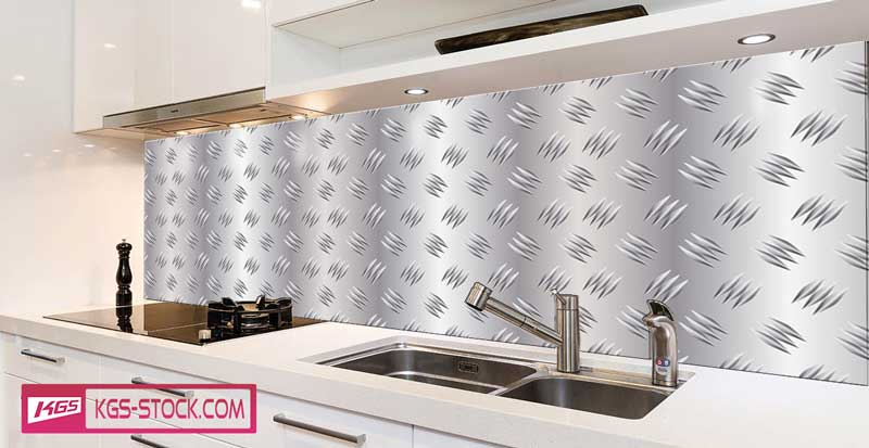 Splashbacks Glass design - Metallic texture - 100880