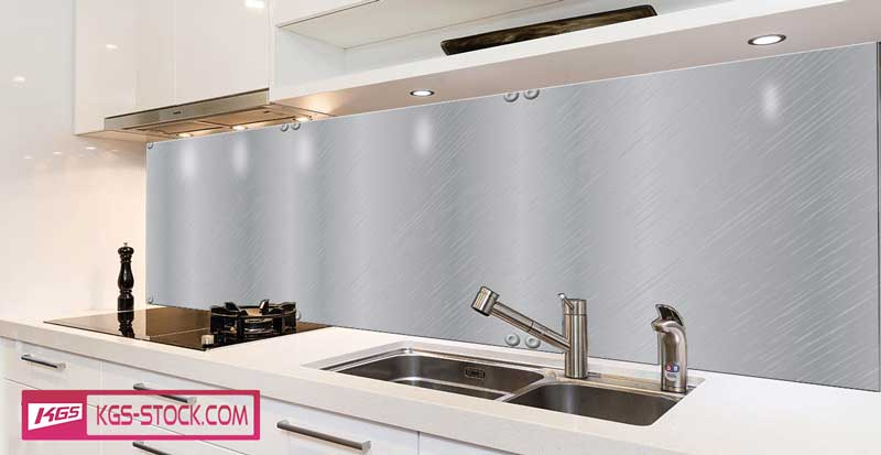 Splashbacks Glass design - Metallic sheet texture - 100882