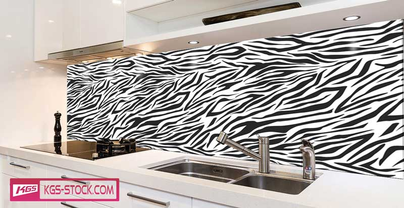 Splashbacks Glass design - Animal Skin texture - 100883