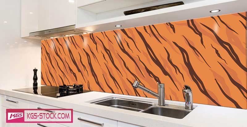 Splashbacks Glass design - Tiger Skin texture - 100884