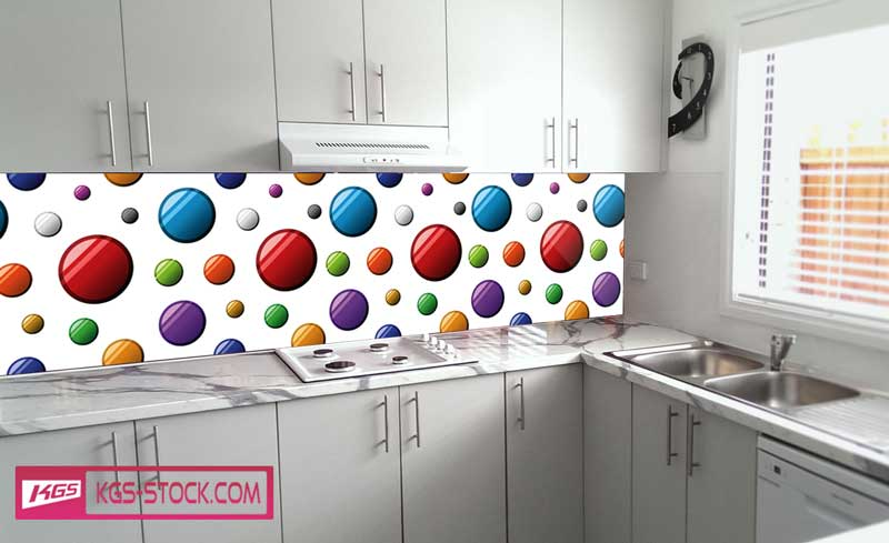 Splashbacks Glass design - Colorful circles - 100353