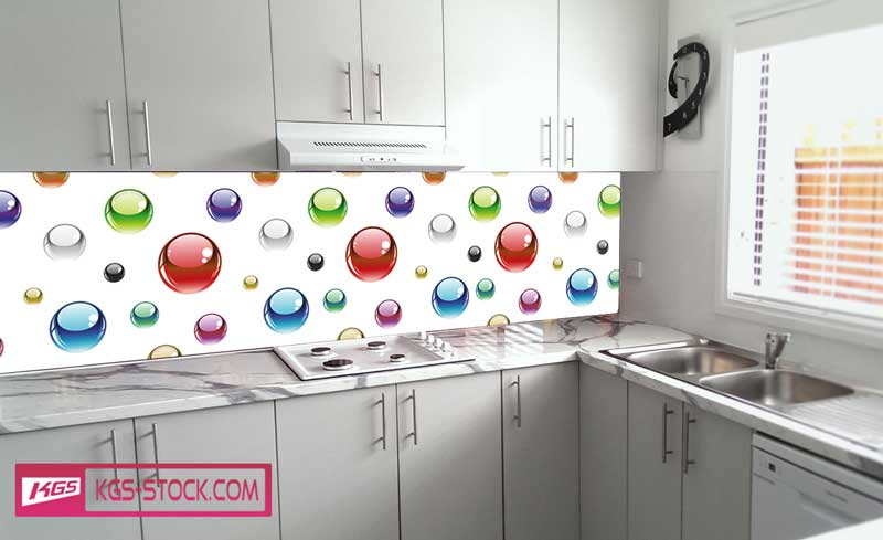 Splashbacks Glass design - Colorful circles - 100354