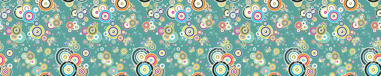 Splashbacks Glass design - Colorful abstract circles explosion - 100361 Image