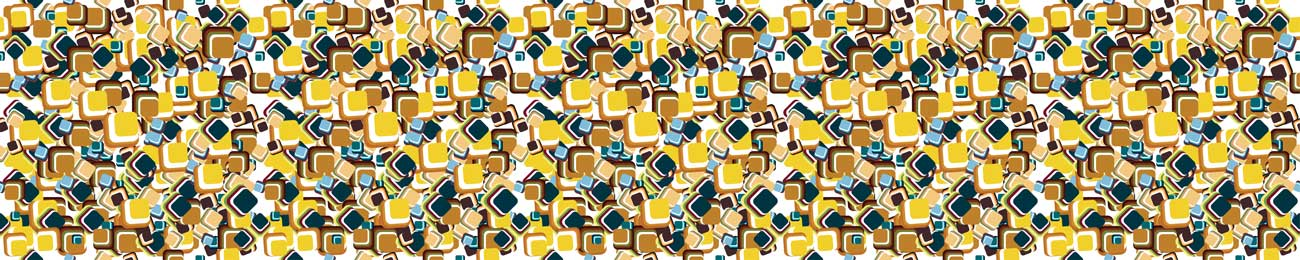 Splashbacks Glass design - Yellow abstract shapes - 100362 Image