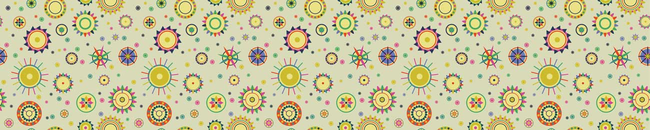 Splashbacks Glass design - Colorful circles and shapes - 100364 Image