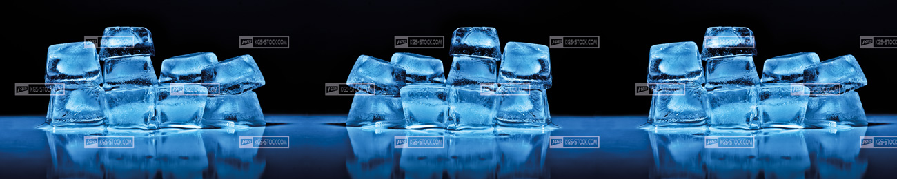 Splashbacks Glass design - Blue Ice - 100302 Image