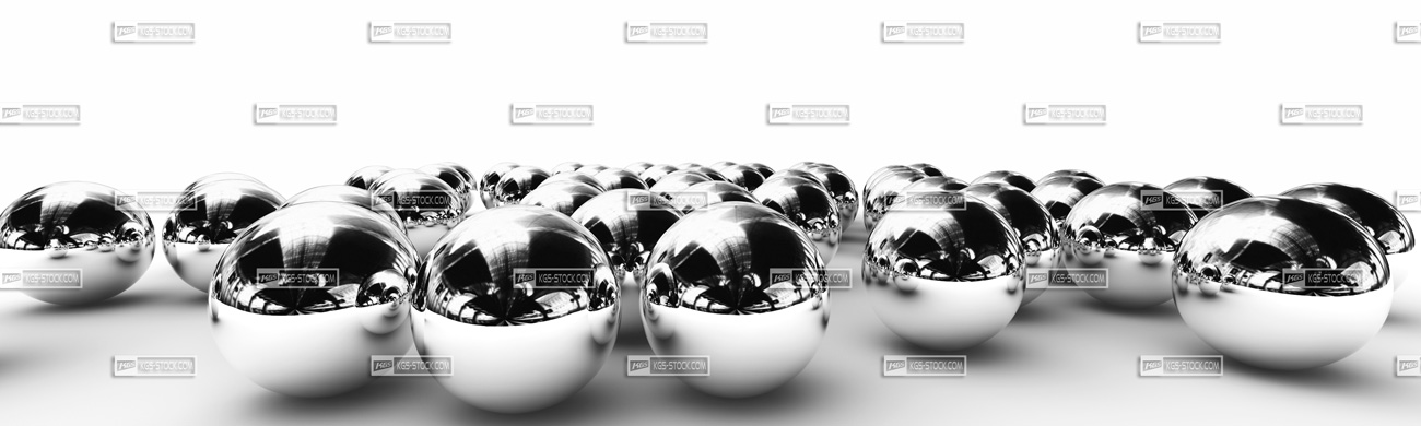Splashbacks Glass design - Silver balls - 100304 Image