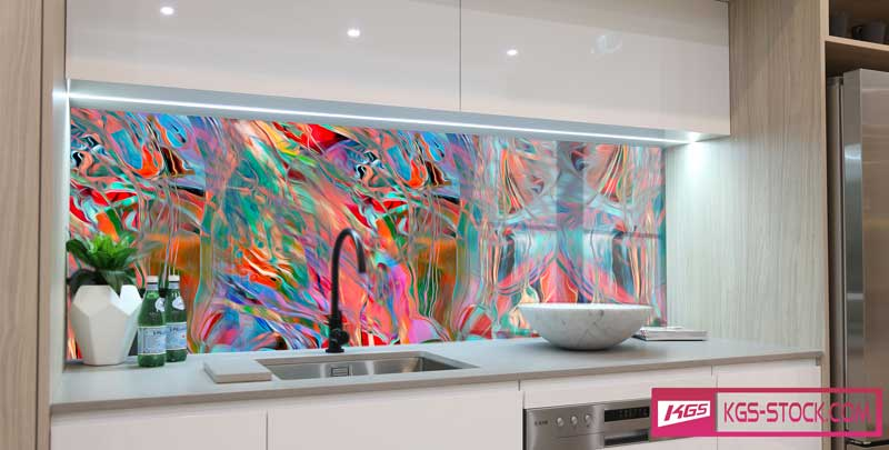 Splashbacks Glass design - Colorful abstract design - 1003113