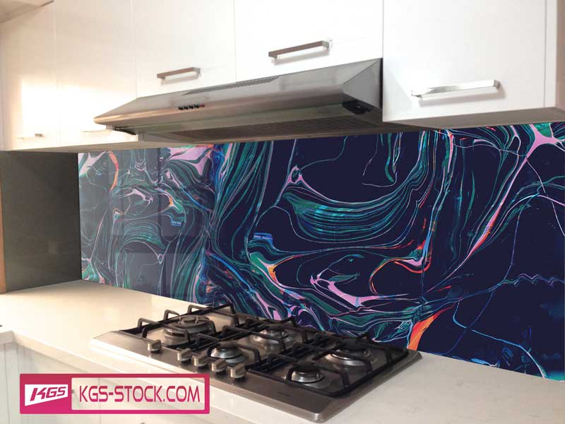 Splashbacks Glass design - Dark web abstract design - 100323