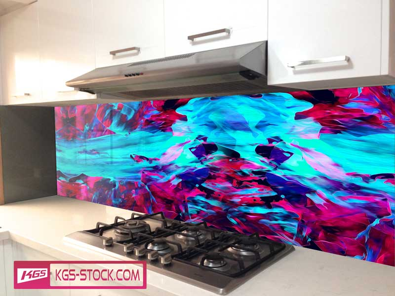 Splashbacks Glass design - Energetic river abstract design - 100325