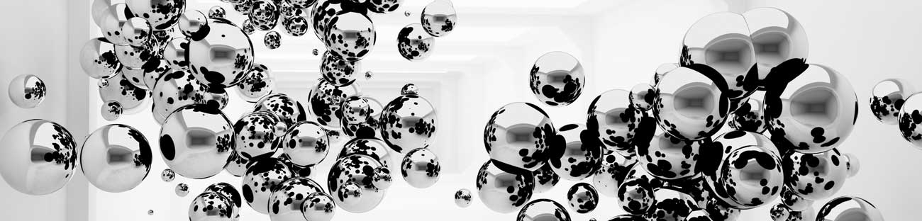 Splashbacks Glass design - Abstract silver circles - 100345