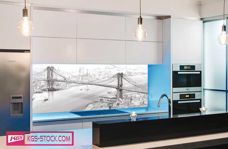 Splashbacks Glass design - Old London Bridge - 100123