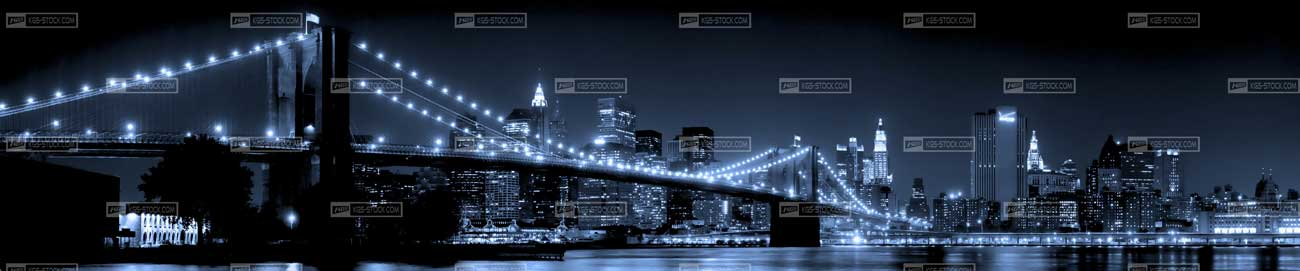 Splashbacks Glass design - Brooklyn bridge - 100103
