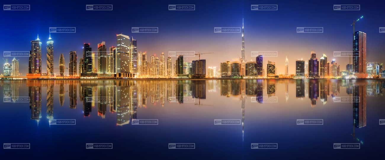 Splashbacks Glass design - MIrror city - 100104 Image