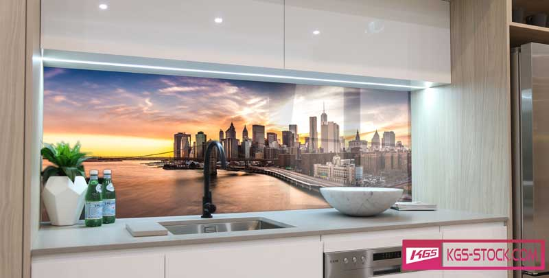 Splashbacks Glass design - Sundown - 100105
